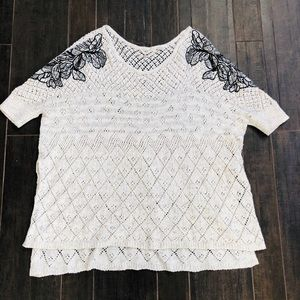 ANTHROPOLOGIE KNITTED & KNOTTED KNIT SWEATER M/L
